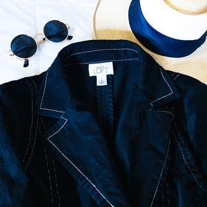 Ann Taylor | Black Velvet Blazer